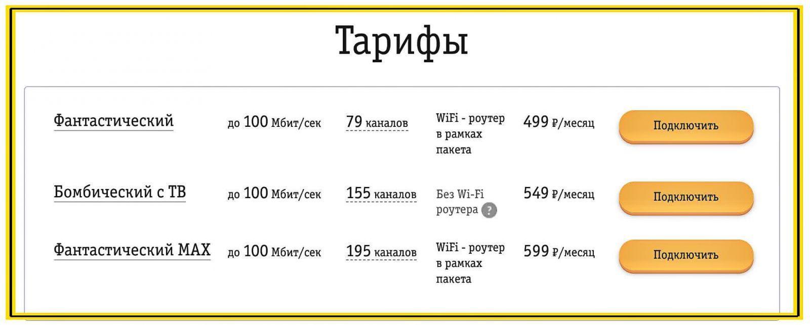 Домашний интернет от Билайн.