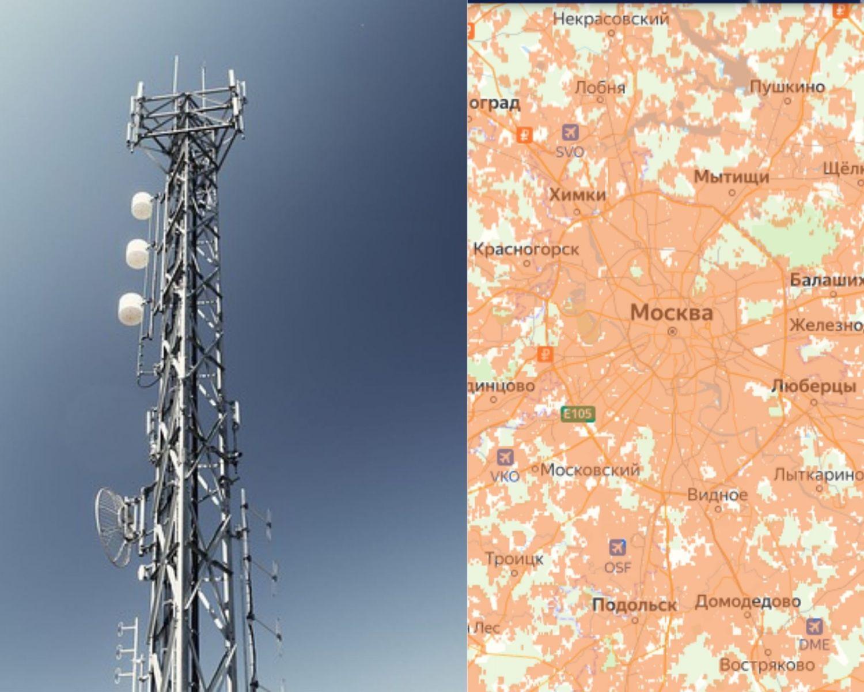 Покрытие сети в Москве